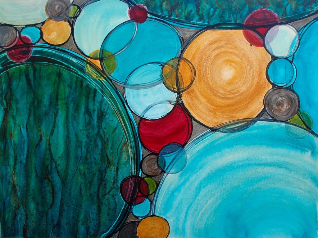 Spheres of Connection 36 x 48 Melynda Van Zee©2016