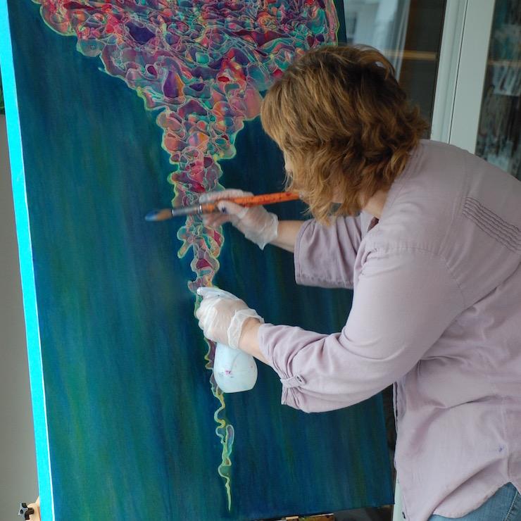 """Melynda Van Zee painting """"Unraveled Fears"""""""